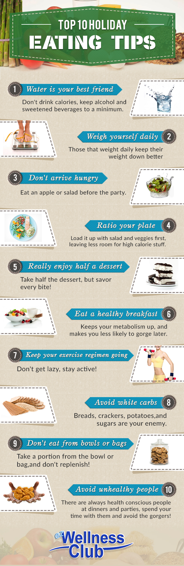Holiday Eating Tips Infographic
